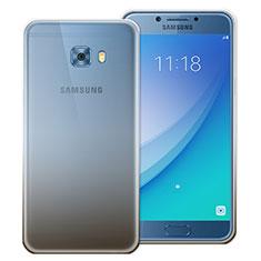 Coque Ultra Fine Transparente Souple Degrade pour Samsung Galaxy C7 Pro C7010 Gris