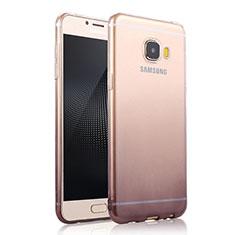 Coque Ultra Fine Transparente Souple Degrade pour Samsung Galaxy C7 SM-C7000 Gris