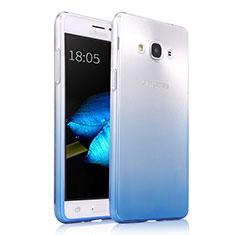 Coque Ultra Fine Transparente Souple Degrade pour Samsung Galaxy J3 Pro (2016) J3110 Bleu