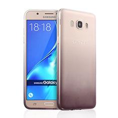 Coque Ultra Fine Transparente Souple Degrade pour Samsung Galaxy J7 (2016) J710F J710FN Gris
