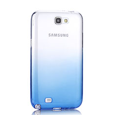 Coque Ultra Fine Transparente Souple Degrade pour Samsung Galaxy Note 2 N7100 N7105 Bleu