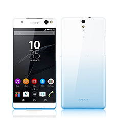 Coque Ultra Fine Transparente Souple Degrade pour Sony Xperia C5 Ultra Bleu
