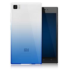 Coque Ultra Fine Transparente Souple Degrade pour Xiaomi Mi 3 Bleu