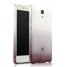 Coque Ultra Fine Transparente Souple Degrade pour Xiaomi Mi 4 Gris