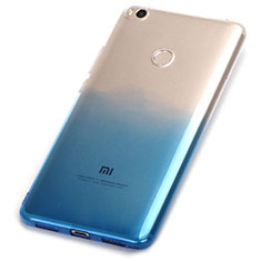 Coque Ultra Fine Transparente Souple Degrade pour Xiaomi Mi Max 2 Bleu