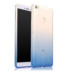 Coque Ultra Fine Transparente Souple Degrade pour Xiaomi Mi Max Bleu