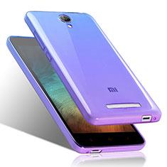 Coque Ultra Fine Transparente Souple Degrade pour Xiaomi Redmi Note 2 Bleu
