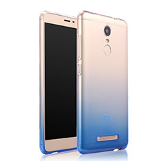 Coque Ultra Fine Transparente Souple Degrade pour Xiaomi Redmi Note 3 MediaTek Bleu