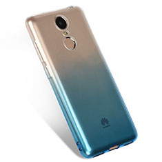 Coque Ultra Fine Transparente Souple Degrade Q01 pour Huawei Enjoy 6 Bleu