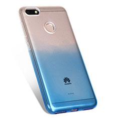 Coque Ultra Fine Transparente Souple Degrade Q01 pour Huawei Enjoy 7 Bleu