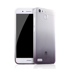 Coque Ultra Fine Transparente Souple Degrade Q01 pour Huawei P8 Lite Smart Noir