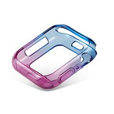 Coque Ultra Fine Transparente Souple Housse Etui Degrade G01 pour Apple iWatch 5 44mm Bleu