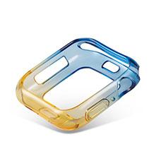 Coque Ultra Fine Transparente Souple Housse Etui Degrade G01 pour Apple iWatch 5 44mm Jaune
