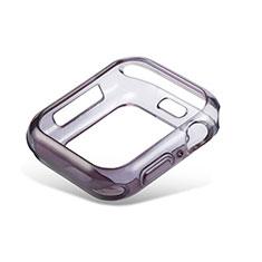 Coque Ultra Fine Transparente Souple Housse Etui Degrade G01 pour Apple iWatch 5 44mm Noir