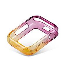 Coque Ultra Fine Transparente Souple Housse Etui Degrade G01 pour Apple iWatch 5 44mm Violet