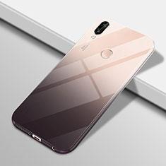 Coque Ultra Fine Transparente Souple Housse Etui Degrade G01 pour Huawei P20 Lite Noir