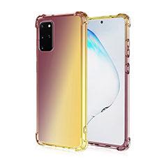 Coque Ultra Fine Transparente Souple Housse Etui Degrade G01 pour Samsung Galaxy S20 Plus Marron