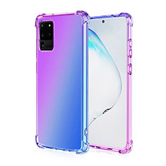 Coque Ultra Fine Transparente Souple Housse Etui Degrade G01 pour Samsung Galaxy S20 Ultra 5G Violet