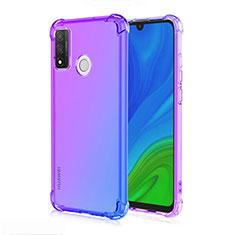Coque Ultra Fine Transparente Souple Housse Etui Degrade H01 pour Huawei P Smart (2020) Bleu