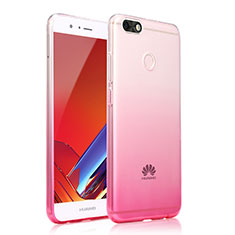 Coque Ultra Fine Transparente Souple Housse Etui Degrade pour Huawei Enjoy 7 Rose