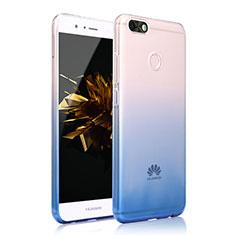 Coque Ultra Fine Transparente Souple Housse Etui Degrade pour Huawei Y6 Pro (2017) Bleu