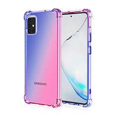 Coque Ultra Fine Transparente Souple Housse Etui Degrade pour Samsung Galaxy A51 4G Bleu