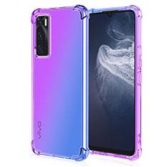 Coque Ultra Fine Transparente Souple Housse Etui Degrade pour Vivo V20 SE Violet
