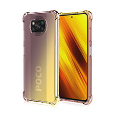 Coque Ultra Fine Transparente Souple Housse Etui Degrade pour Xiaomi Poco X3 NFC Marron