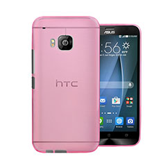 Coque Ultra Slim Mat Rigide Transparente pour HTC One M9 Rose