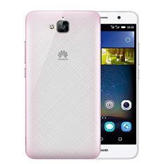 Coque Ultra Slim Mat Rigide Transparente pour Huawei Enjoy 5 Rose