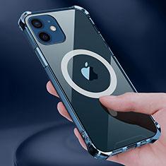 Coque Ultra Slim Silicone Souple Transparente avec Mag-Safe Magnetic Magnetique pour Apple iPhone 12 Clair