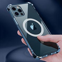 Coque Ultra Slim Silicone Souple Transparente avec Mag-Safe Magnetic Magnetique pour Apple iPhone 12 Pro Clair