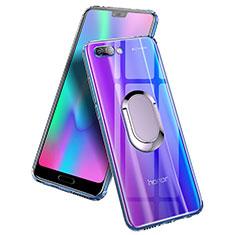Coque Ultra Slim Silicone Souple Transparente avec Support Bague Anneau pour Huawei Honor 10 Clair