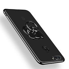 Coque Ultra Slim Silicone Souple Transparente avec Support Bague Anneau pour Huawei Y9 (2018) Clair