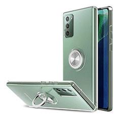 Coque Ultra Slim Silicone Souple Transparente avec Support Bague Anneau pour Samsung Galaxy Note 20 5G Clair