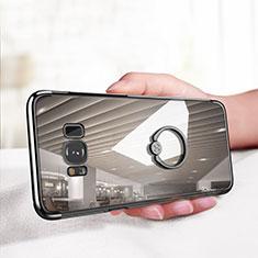 Coque Ultra Slim Silicone Souple Transparente avec Support Bague Anneau pour Samsung Galaxy S8 Plus Clair
