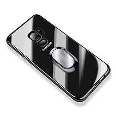 Coque Ultra Slim Silicone Souple Transparente avec Support Bague Anneau pour Samsung Galaxy S9 Clair
