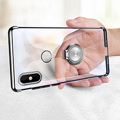 Coque Ultra Slim Silicone Souple Transparente avec Support Bague Anneau pour Xiaomi Mi Mix 2S Clair