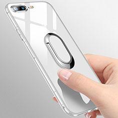 Coque Ultra Slim Silicone Souple Transparente avec Support Bague Anneau T01 pour Apple iPhone 7 Plus Clair