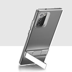 Coque Ultra Slim Silicone Souple Transparente avec Support pour Samsung Galaxy Note 20 5G Clair