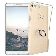 Coque Ultra Slim Silicone Souple Transparente et Support Bague Anneau pour Xiaomi Mi Max Clair