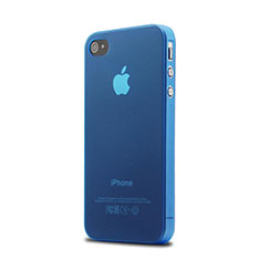 Coque Ultra Slim Silicone Souple Transparente Mat pour Apple iPhone 4S Bleu