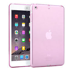 Coque Ultra Slim Silicone Souple Transparente pour Apple iPad Mini Rose