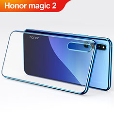 Coque Ultra Slim Silicone Souple Transparente pour Huawei Honor Magic 2 Bleu