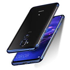 Coque Ultra Slim Silicone Souple Transparente pour Huawei Maimang 7 Bleu