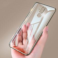 Coque Ultra Slim Silicone Souple Transparente pour Huawei Mate 20 Lite Or