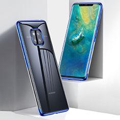 Coque Ultra Slim Silicone Souple Transparente pour Huawei Mate 20 Pro Bleu