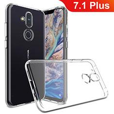 Coque Ultra Slim Silicone Souple Transparente pour Nokia 7.1 Plus Clair
