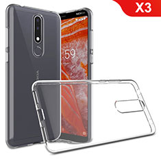 Coque Ultra Slim Silicone Souple Transparente pour Nokia X3 Clair