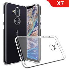 Coque Ultra Slim Silicone Souple Transparente pour Nokia X7 Clair
